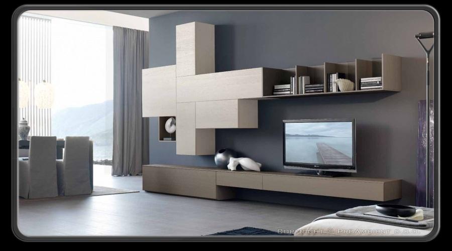Moderne dnevne sobe, opremljanje hiše, moderni stil opreme